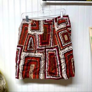 Worthington Size 10 Patterned Mini Skirt